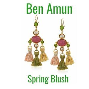 NWT Ben Amun Spring Blush silk tassel earrings